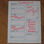 How to Organize your Back to School Schedule